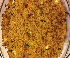 Crumble de Frango, courgette e cenoura