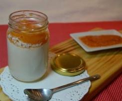 Iogurte cor de laranja