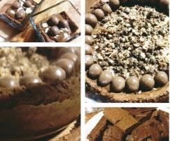 Bolo esponja chocolate com mousse de praline
