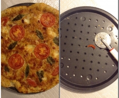 Pizza com tomate fresco
