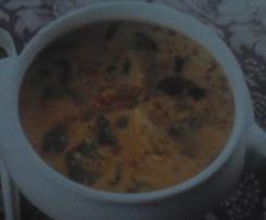 Sopa de frango e lentilhas