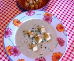 Sopa de couve-flor e grão