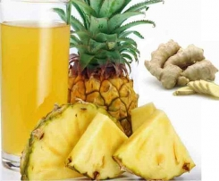 Sumo de Ananas e  Laranja aromatizado c/ gengibre