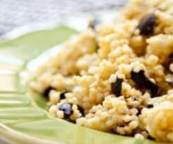 Millet Com Curgete e Azeitonas