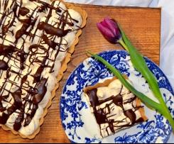 Tarte de amendoim e gengibre com chocolate
