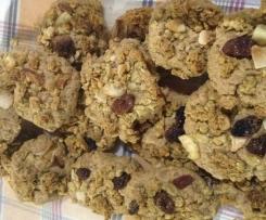 Biscoitos de aveia e granola