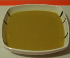 Sopa cremosa de cogumelos