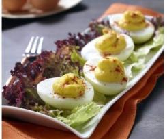 """Ovos recheados tipo """"Devilled Eggs"""""""