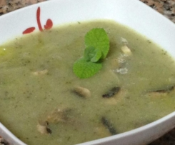 Sopa Feijão Azuki e cogumelos